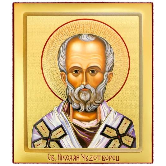 Икона на доске Николай Чудотворец