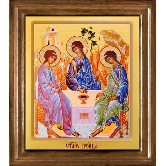 Икона Св. Троица одиночная рамка ковчег