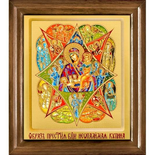 Икона Неопалимая Купина Б. М. одиночная рамка ковчег