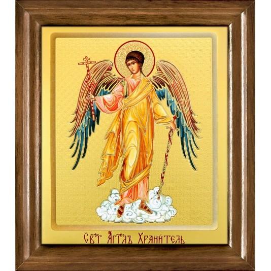 Икона Св. Ангел Хранитель одиночная рамка ковчег