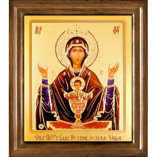 Икона Неупиваемая чаша Б. М. одиночная рамка ковчег