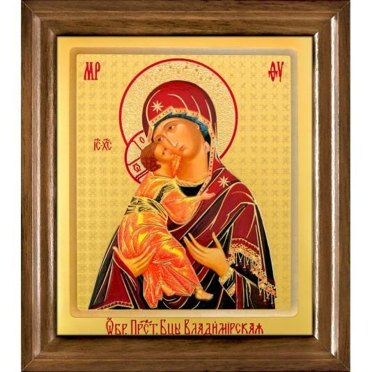 Икона Владимирская Б. М. одиночная рамка ковчег