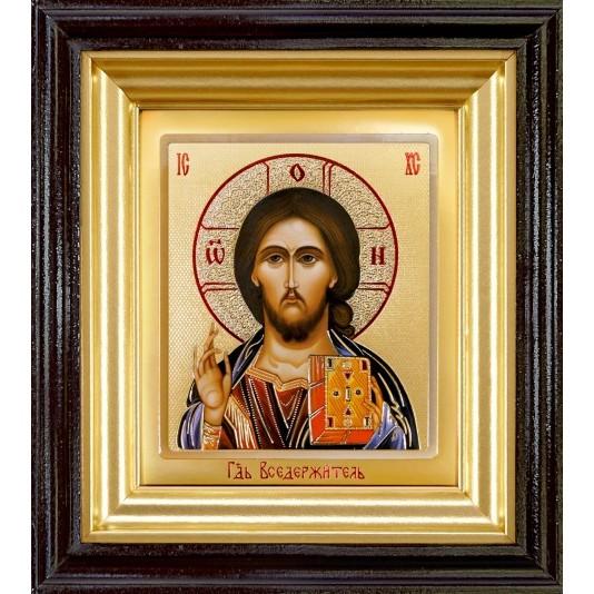 Икона Спаситель ковчег малое стекло в темной рамке