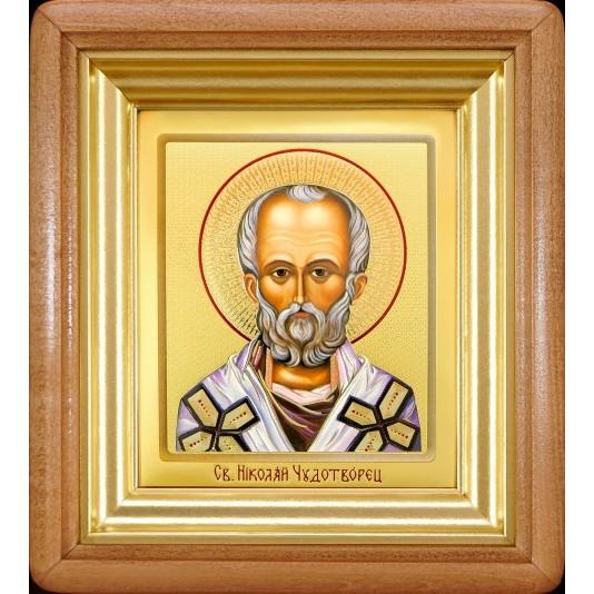 икона Святой Николай Чудотворец ковчег малое стекло