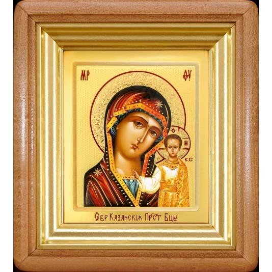 Икона Казанская Б. М. ковчег малое стекло