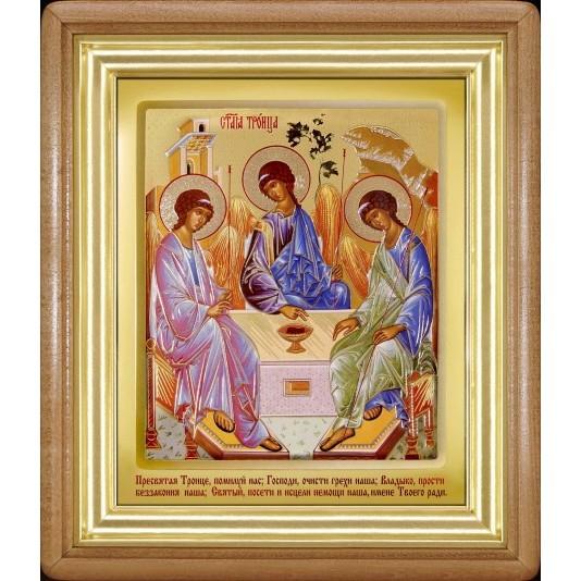 Икона Святая Троица ковчег в светлой рамке