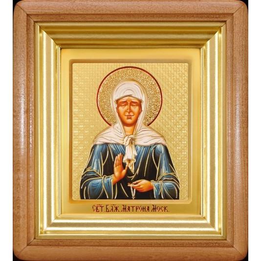 Икона Святая Матрона Блаженная ковчег малое стекло
