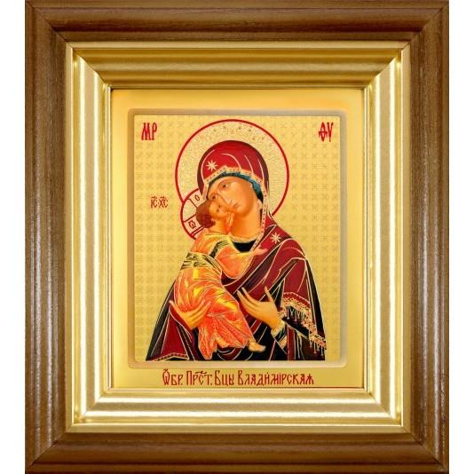 Икона Владимирская Б. М. ковчег малое стекло