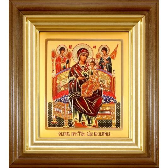 Икона Всецарица Б. М. ковчег малое стекло
