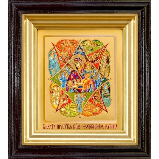 Икона Неопалимая Купина Б. М. ковчег малое стекло