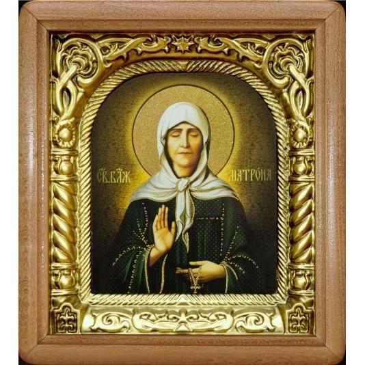Икона Св. Матрона Блаженная риза арка