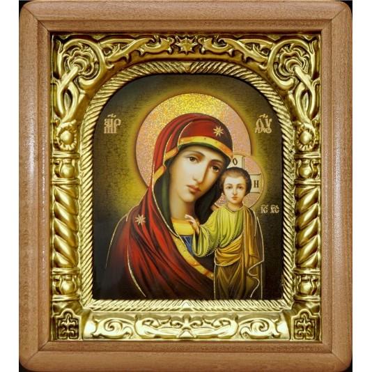 Икона Казанская Богородица риза арка