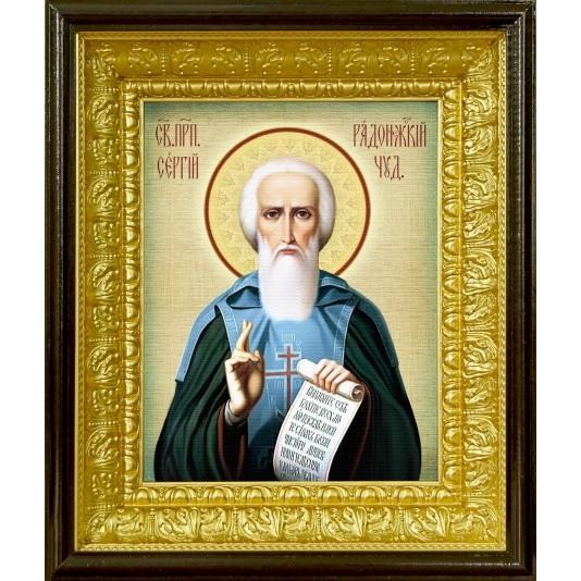 Икона аналойная Св. Сергий Радонежский от производителя