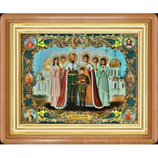 Икона Царская семья полиграфия большая классика