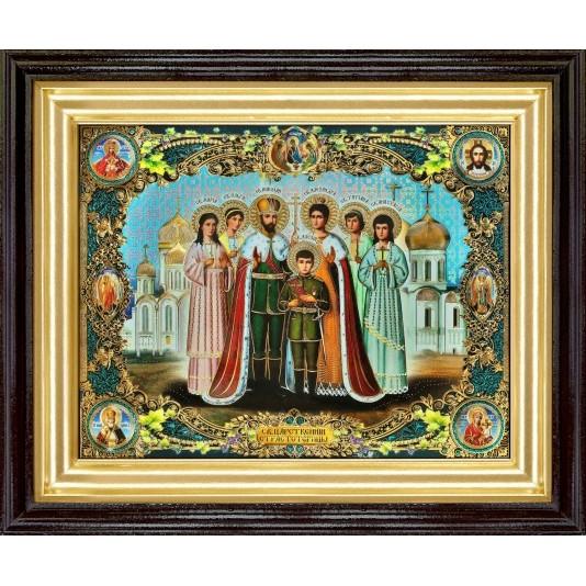 Икона Царская семья полиграфия