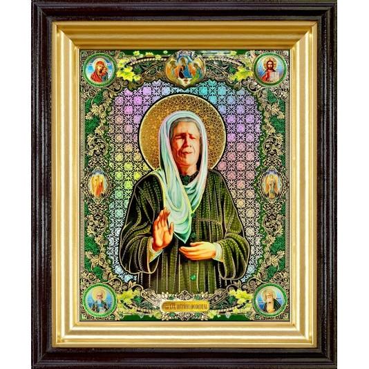 Икона Св. Матрона Блаженная полиграфия большая классика