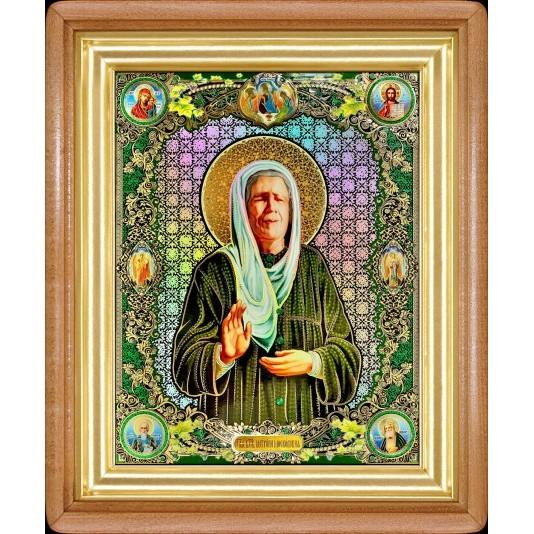 Икона Св. Матрона Блаженная полиграфия большая