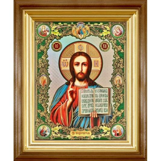 Икона Спаситель полиграфия большая классика