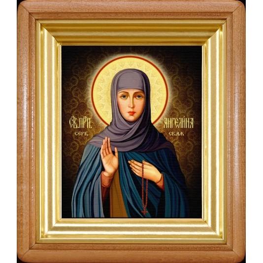 Икона Ангелина Сербская холста малый