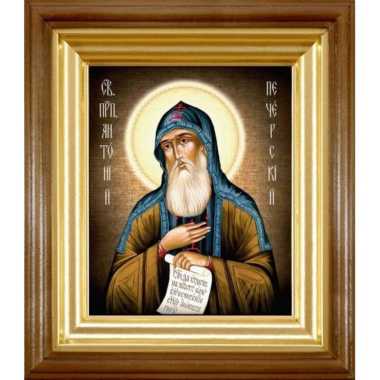 Икона Антоний Печерский холста малый