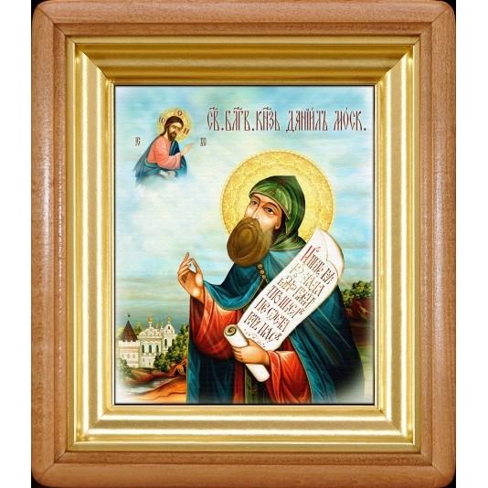 Икона Даниил Московский холст малый