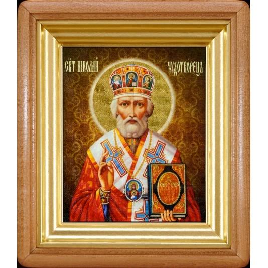 Икона Святой Николай Чудотворец холст малый