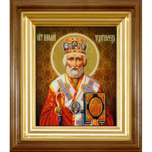 Икона Святой Николай Чудотворец холст