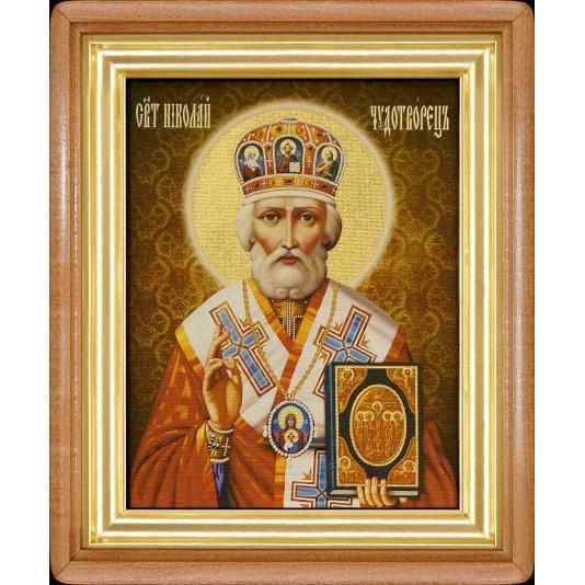 Святой Николай Чудотворец холст большой