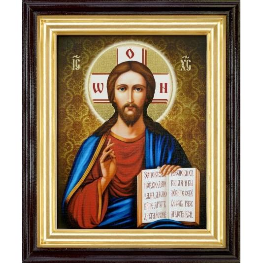 Икона Спаситель холст большой