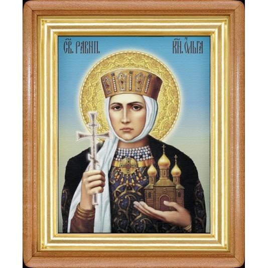 Икона Ольга холст
