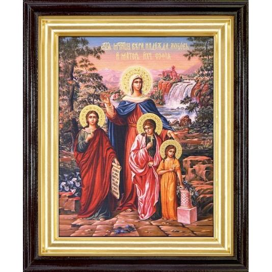 Икона Вера Надежда Любовь и матерь их Софья холст большой