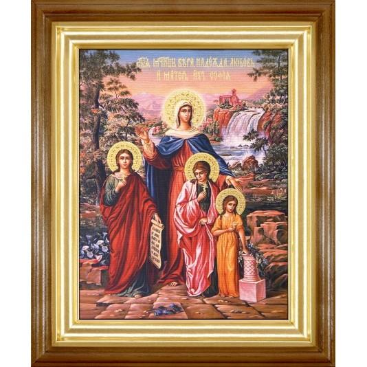Икона Вера Надежда Любовь и матерь их Софья холст