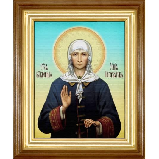 Икона Св. Ксения Петербуржская холст