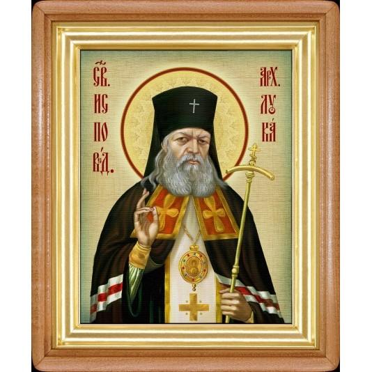 Икона Св. Лука Крымский холст большой