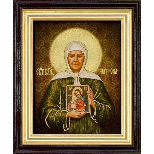 Икона Св. Матрона Блаженная холст большой