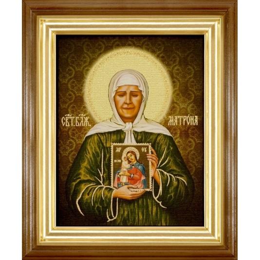 Икона Св. Матрона Блаженная холст
