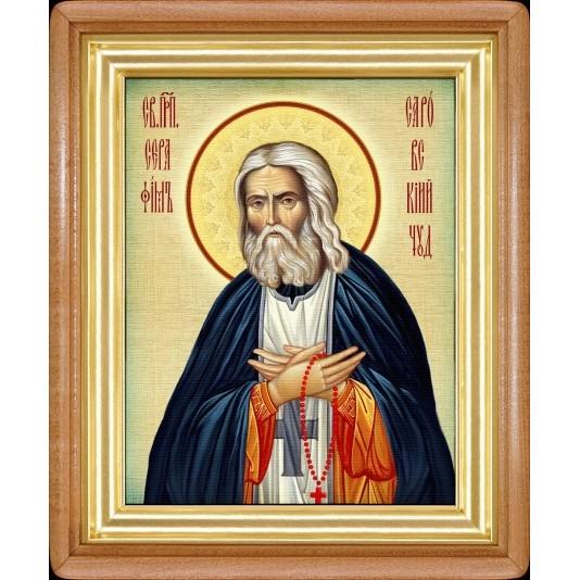 Икона Св. Серафим Саровский холст большой
