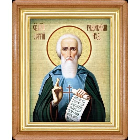 Икона Св. Сергий Радонежский холст большой