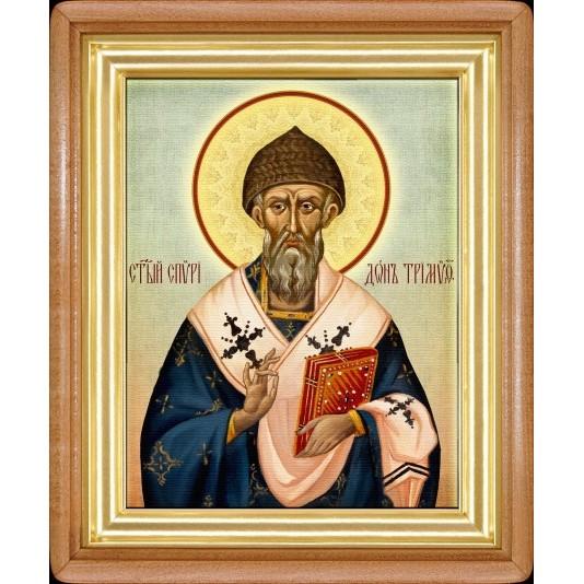 Икона Св. Спиридон Тримифунтский холст большой