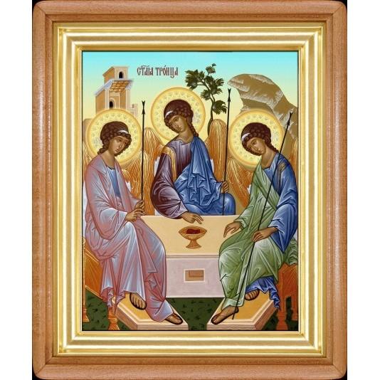 Икона Троица холст большой