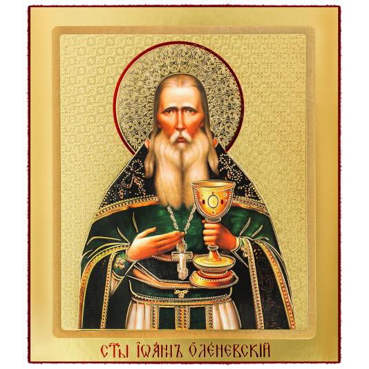 Икона на доске Иоанн Оленевский