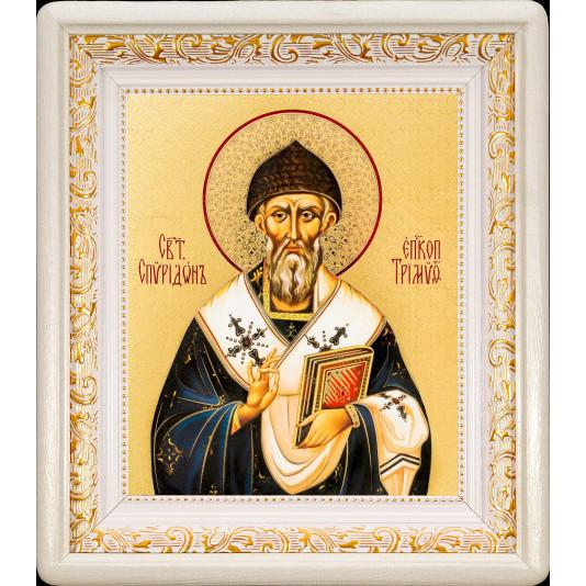 Св. Спиридон Тримифунтский в белом киоте