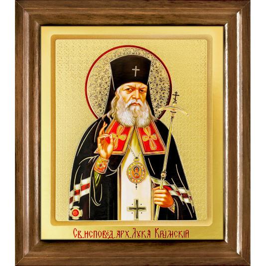 Икона Лука Крымский одиночная рамка ковчег