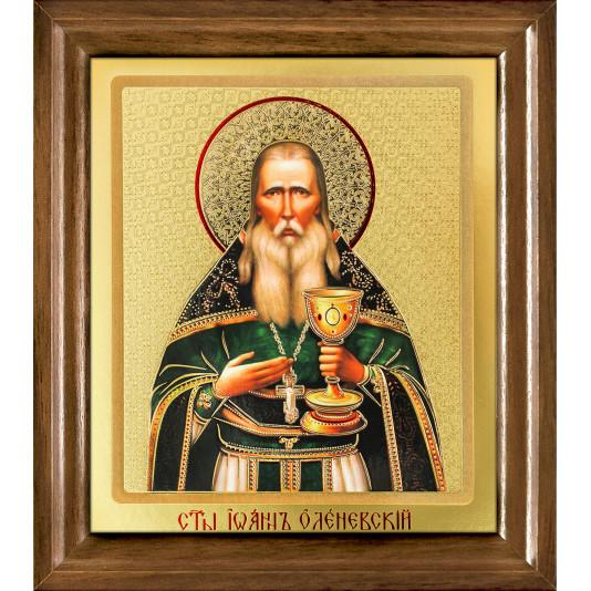 Икона Иоанн Оленевский одиночна рамка ковчег