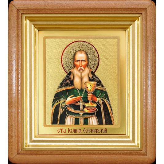 Икона Иоанн Оленевский ковчег классика малая