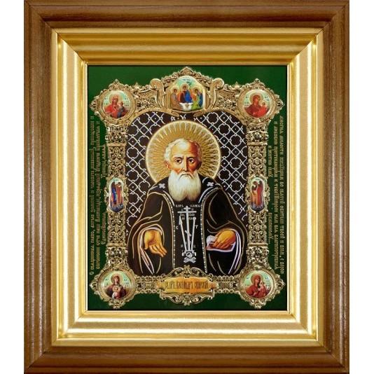 Икона Александр Свирский полиграфия
