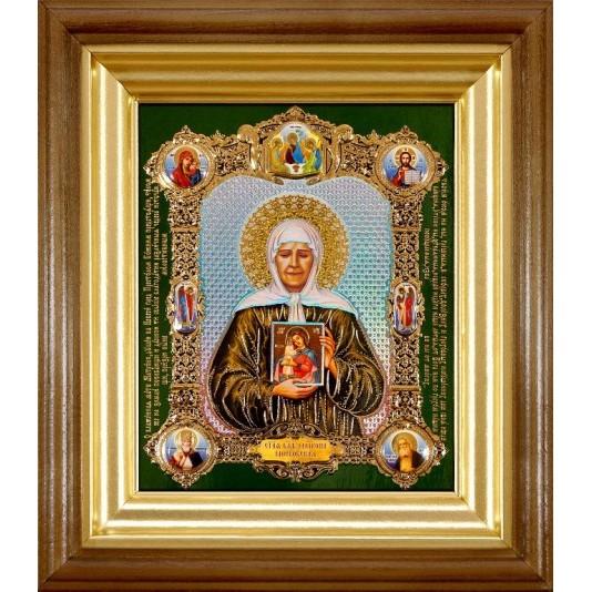 Икона Святая Матрона Блаженная полиграфия малая