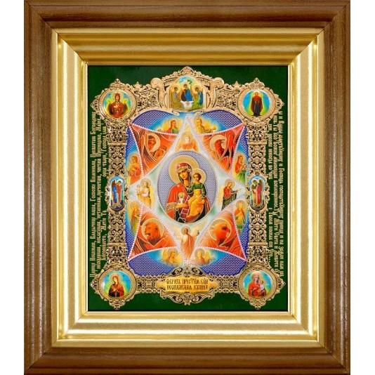 Икона Неопалимая Купина Б. М. полиграфия малая