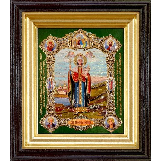 Икона Св. Параскева Пятница полиграфия малая