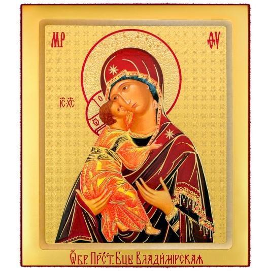 Икона на доске Владимирская Б. М. малая